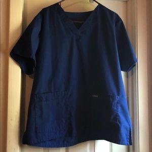Men's Landau double pocket scrub top